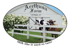 Arethusa Farm milk label from Litchfield, CT.