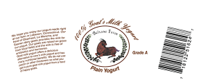 Beltane Farm: 100% Goat's Milk Yogurt arched connecticut label.