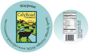 Caly Road Creamery: Waypoint cheese label from Sandy Springs, Georgia.