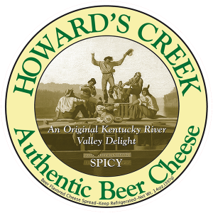 Howard's Creek Authentic Beer Kentucky Cheese Label.