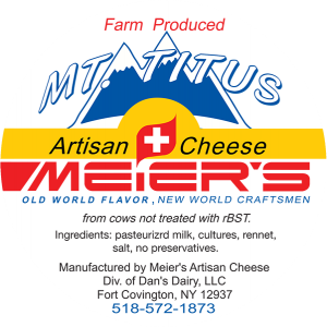 Meier's: Farm Produced Mt. Titus Artisan New York Cheese label.
