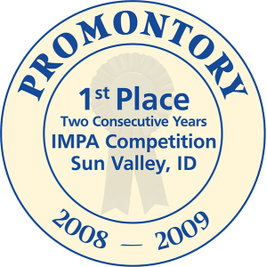 Promontory 1st place IMPA Competition label from Sun Valley, ID cheese label