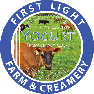 First Light Farm & Creamery 32 Oz. Yogurt label.
